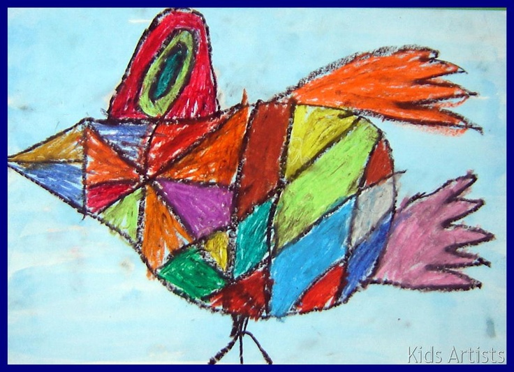 Kids Artists: grade 2  Birds in the style of Corneille