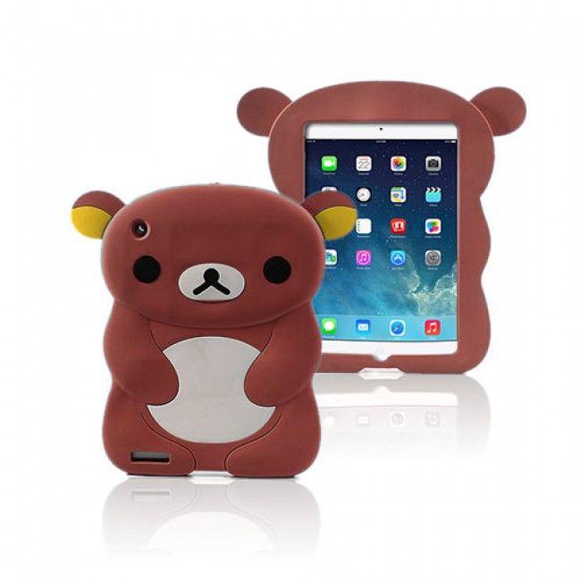Cute Bear (Ruskea) iPad Air Silikonikuori - http://lux-case.fi/ipad-air-suojakuoret.html
