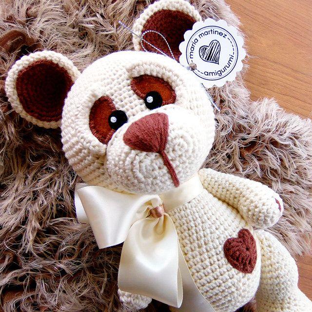 Maria Martinez Amigurumi: Osito corazón | ¿Quieres uno? #Amigurumi #Crochet…