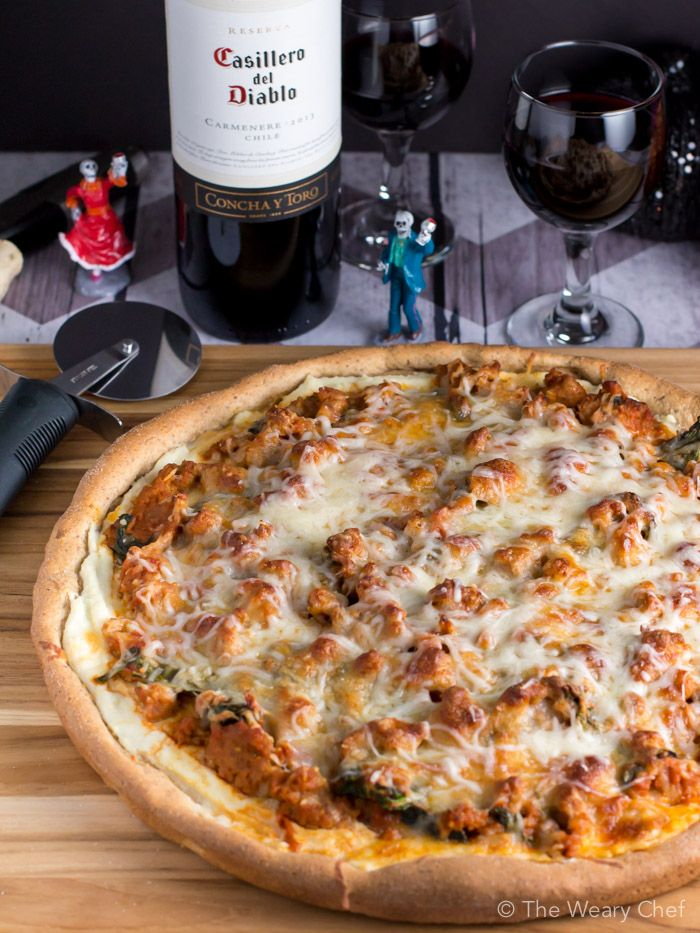 Does it get any better than red wine and pizza? This easy sausage lasagna pizza recipe is PERFECT for a dinner to remember.