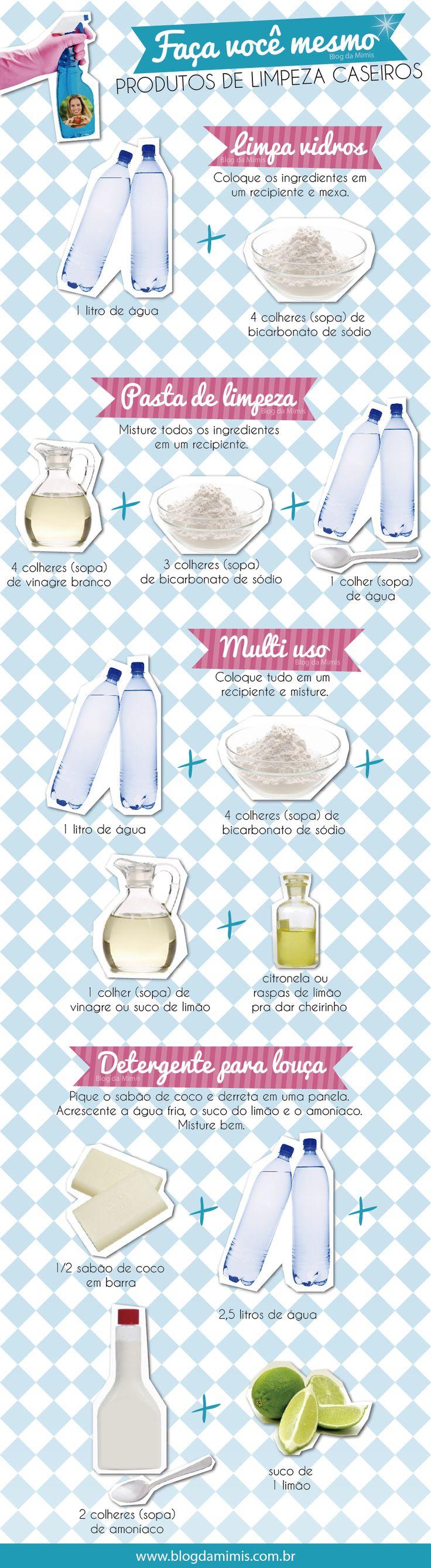Como fazer produtos de limpeza em casa #dica