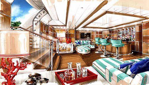 Interior Rendering Yacht