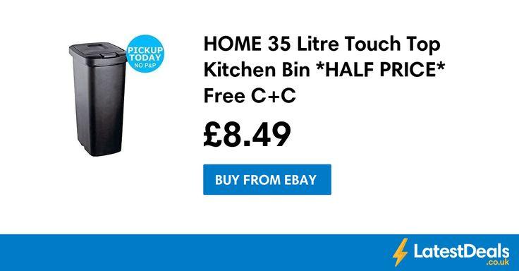 HOME 35 Litre Touch Top Kitchen Bin *HALF PRICE* Free C+C, £8.49 at ebay