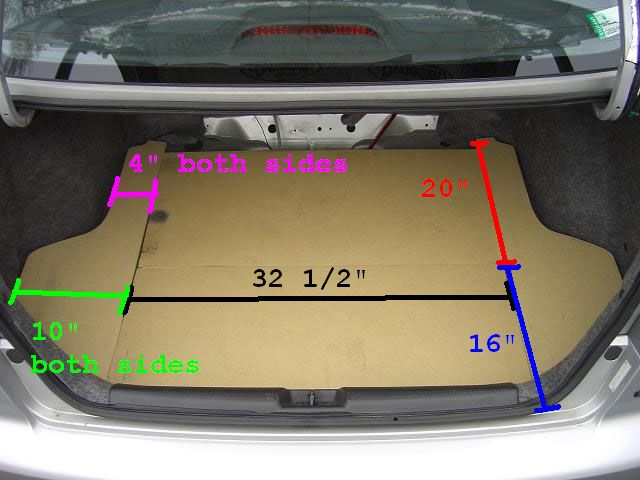 Diy custom trunk ii with access to spare tire honda