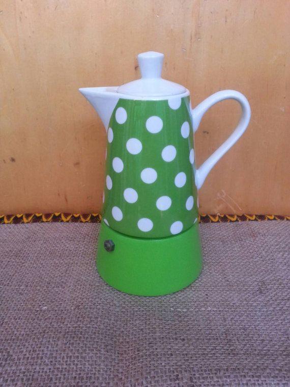 Polka Dot Kaffeemaschine/grün von 61Sideways auf Etsy