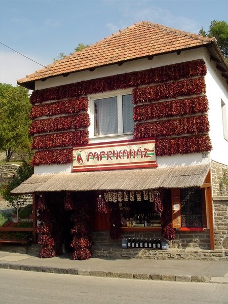 Paprika House, Tihany, Lake Balaton, Hungary...literally so crowded. Always.