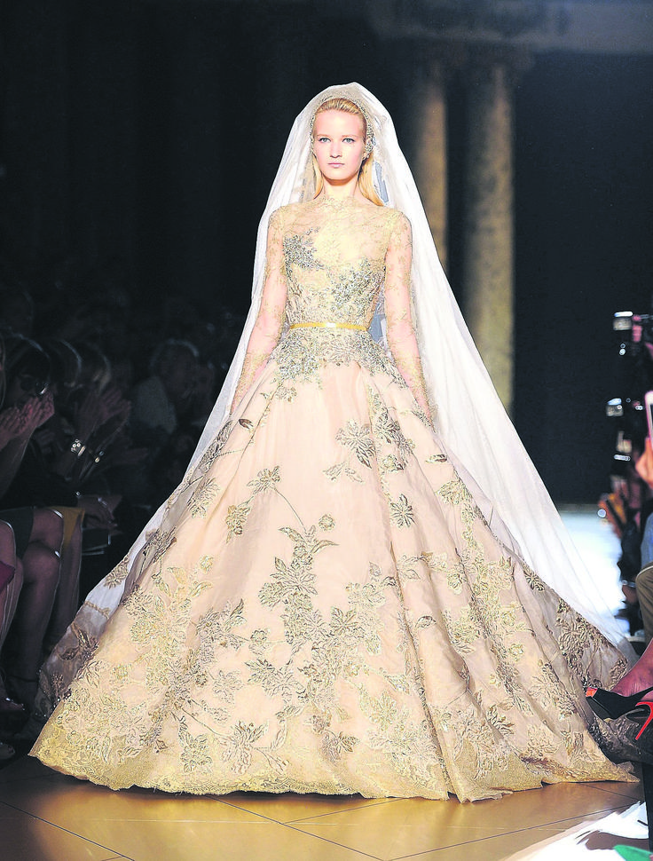 Couture Dress Designers Haute Couture Wedding Gown By Elie Saab Shown In P