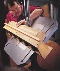 free plans woodworking resource from Woodcraft - free woodworking plans projects bandsawing bandsawn bandsaws jigs