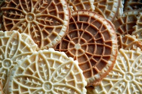 A Pittsburgh Cookie Table favorite, the Pizzelle.