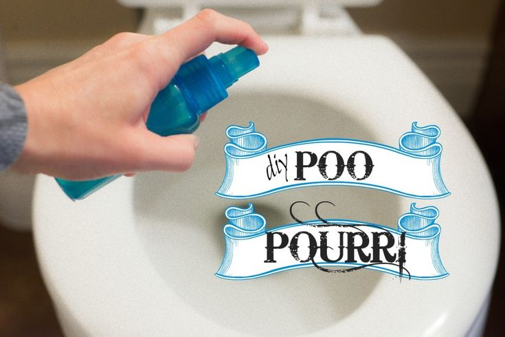 DIY Poo Pourri recipe. Just spray it in the bowl before you go and it blocks all the stink. Next (non) gag gift for the husband!