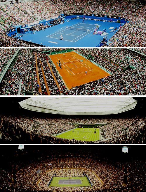 The Majors! Australian Open, French Open, Wimbledon and U.S. Open
