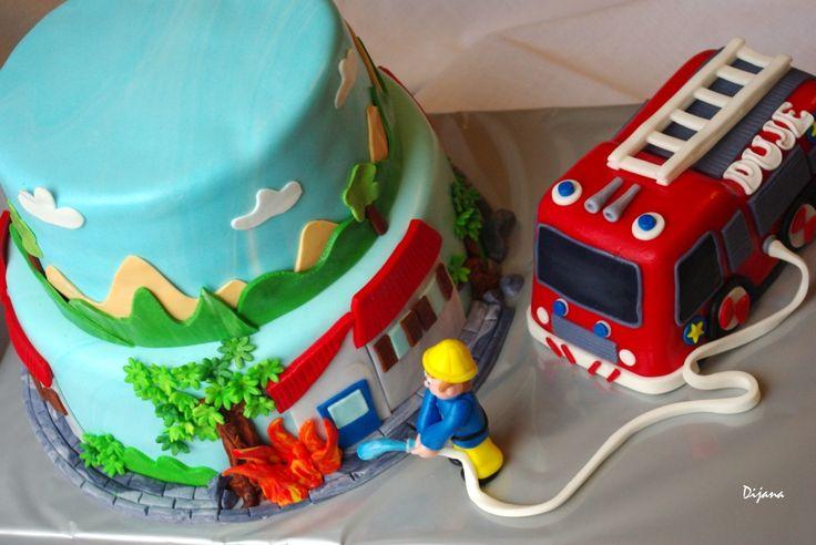 fireman cake , Dujina veeelika torta