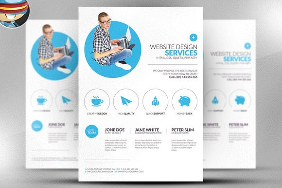 Minimal Web Design Flyer Template | Flyer template, Templates and ...
