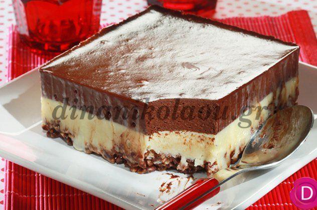 Η Ντίνα Νικολάου δημιουργεί υπέροχο γλύκισμα ψυγείου με δημητριακά & διπλή κρέμα σοκολάτας   eirinika.gr