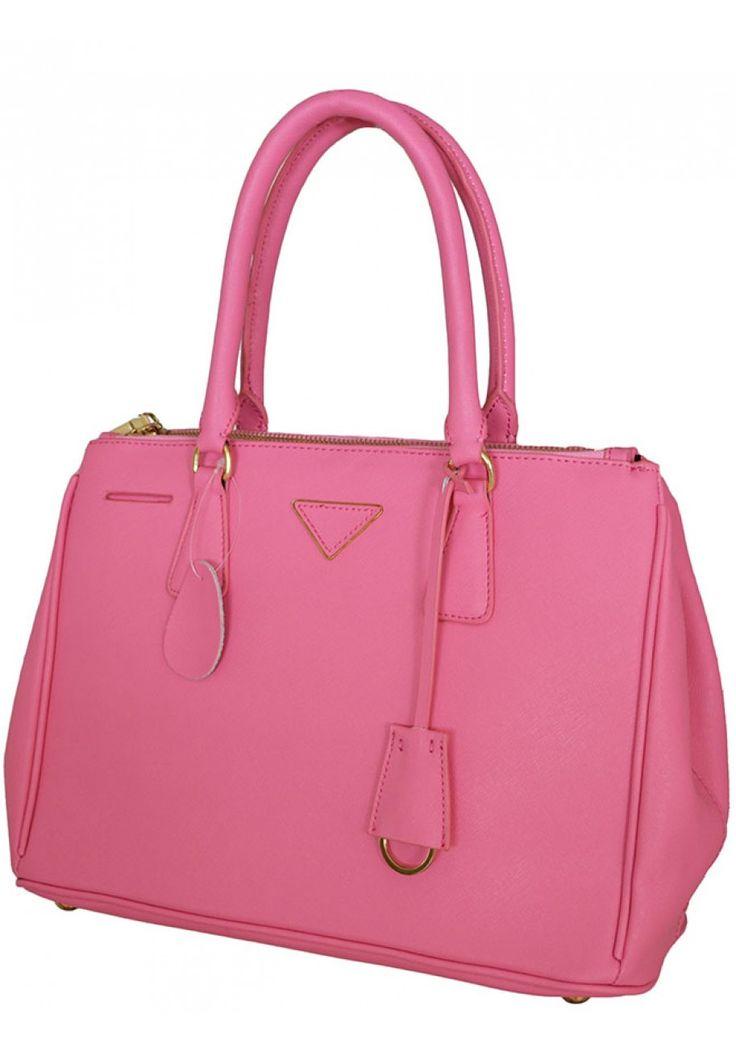 Lisette Santerre -- Women's Elegant Pink Leather Handbag