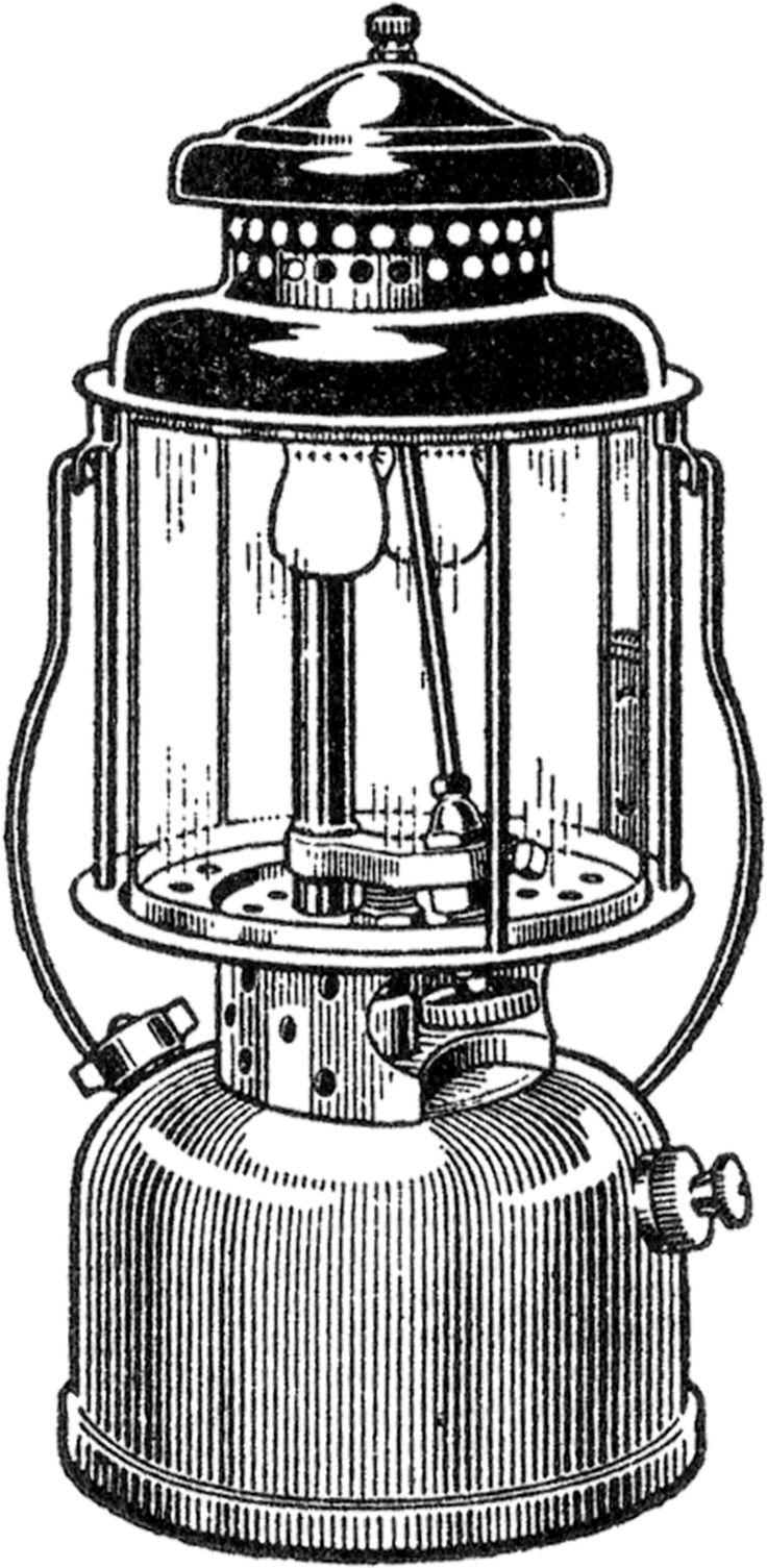 Free Vintage Camping Lantern Image