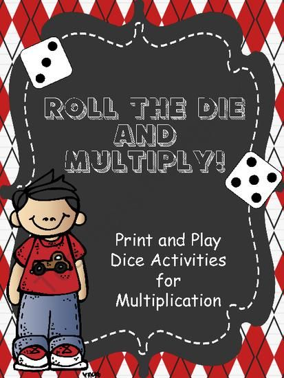 Roll and Multiply Game Giveaway! Enter for your chance to win 1 of 3.  Roll The Die And Multiply - Print and Play Multiplication Games (84 pages) from An Apple For The Teacher on TeachersNotebook.com (Ends on on 4-4-2014)  Enter to win Roll and Multiply Games.  Print and use multiplication math games