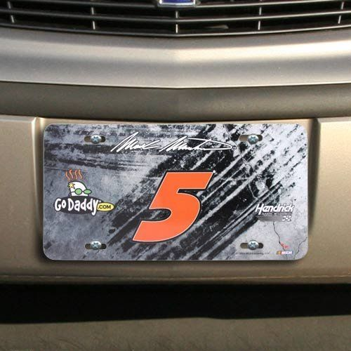 Nascar Mark Martin Number Metal License Plate By Football Fanatics   8 95  Warn People That You