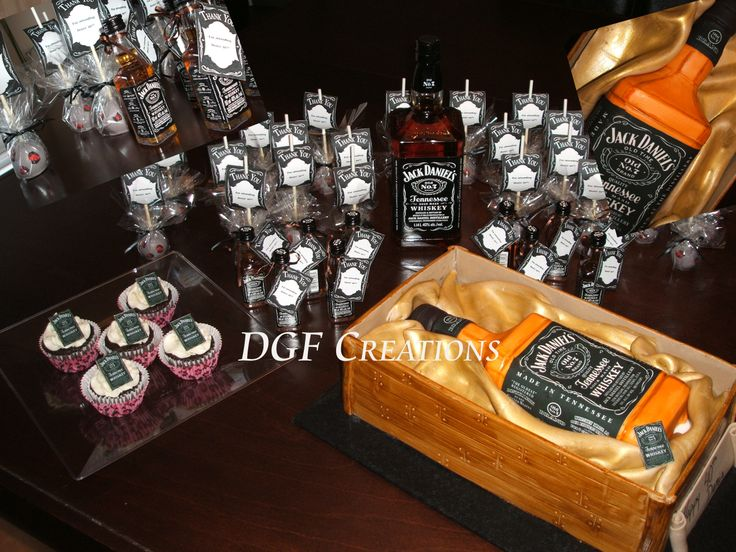 Jack Daniel Theme 40th Birthday Everything On The Cake Is