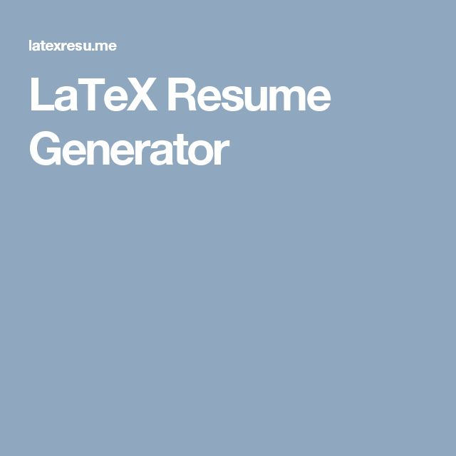 The 25+ best Latex resume template ideas on Pinterest Latex - resume latex template