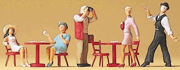 パントマイムとストリートカフェの客 :プライザー 塗装済完成品 HO(1/87) 10348
