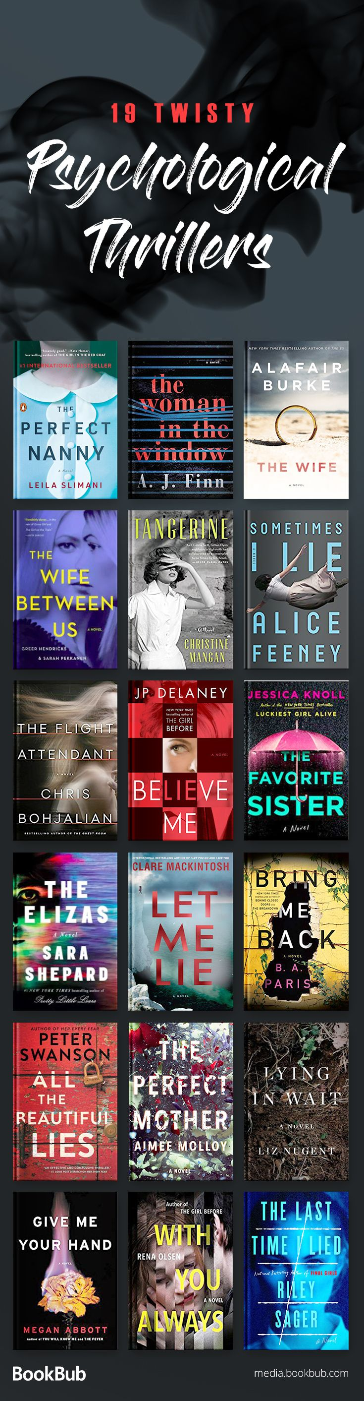 Psychological thrillers and thriller and mystery books you won't want to miss, including twisty novels about murder, domestic suspense, and more. Add these to your 2018 reading list!