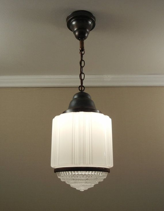 143 best images about ceiling lights shades on pinterest for Art deco bathroom light