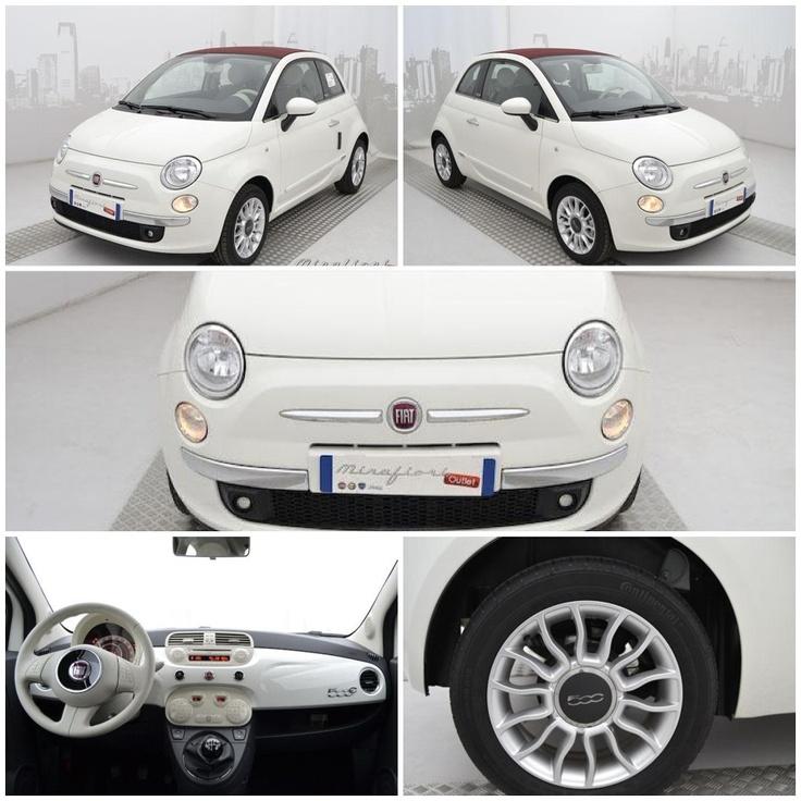 Fiat 500C 69cv lounge, km zero, color Bianco Gelato, del giugno 2011.   #fiat #mirafiorioutlet #kmzero #imperdibili
