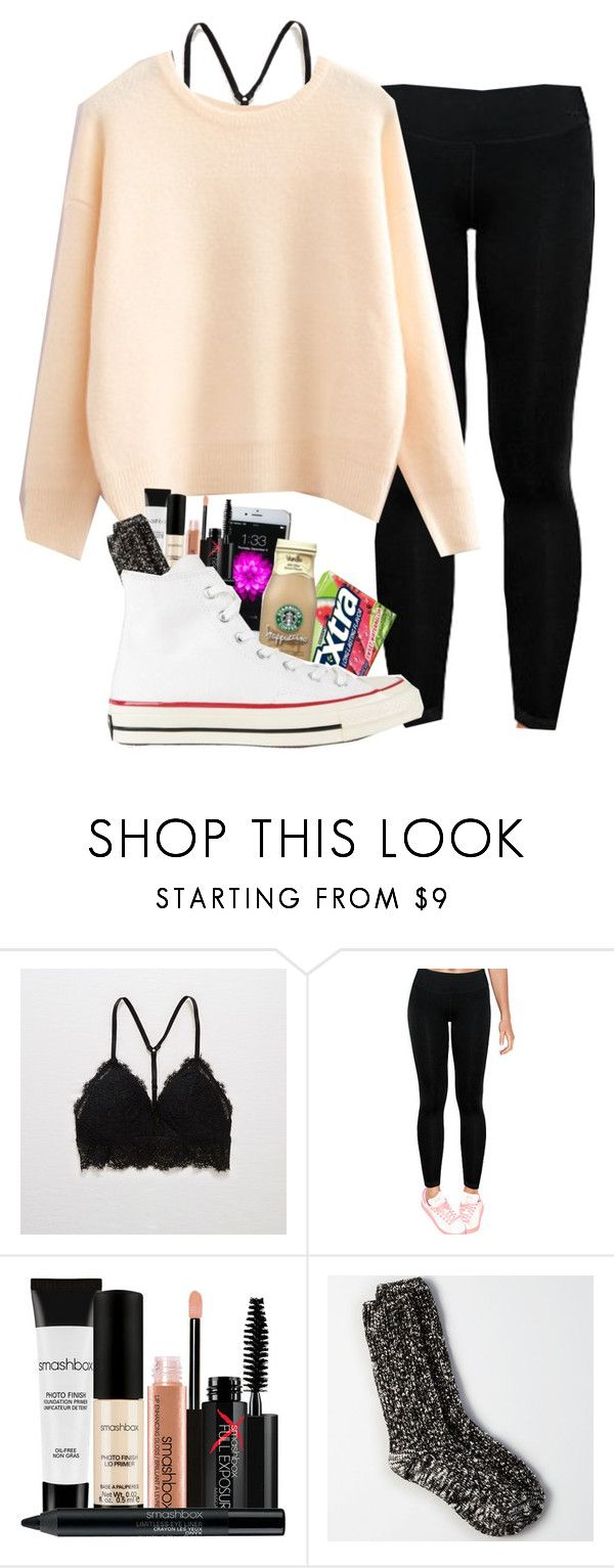 have to wake up at 5:30 tomorrow for a vball tourney by lorla3407 on Polyvore featuring Victoria's Secret, American Eagle Outfitters, Aerie, Converse, Smashbox, cutekawaii and pastelsweaters