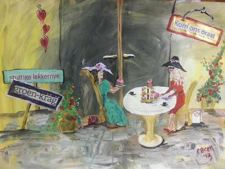 My Afrikaans naive art. By Caren  acrylics