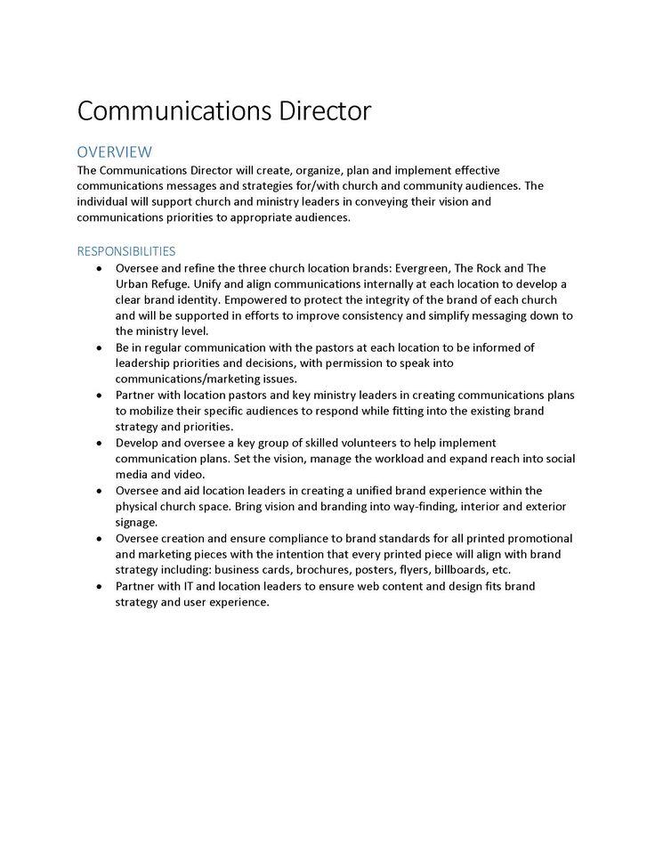 Best Position Descriptions Images On   Job