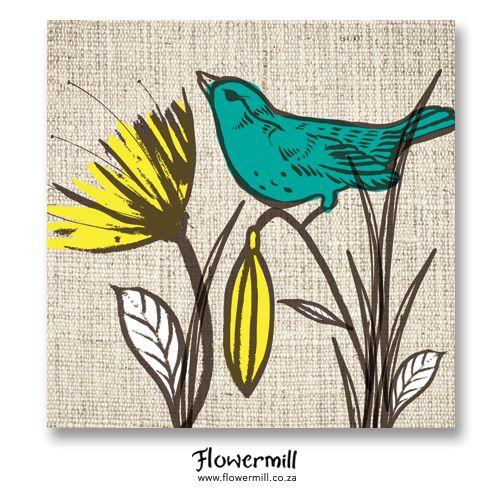 Bird Garden Yellow www.flowermill.co.za