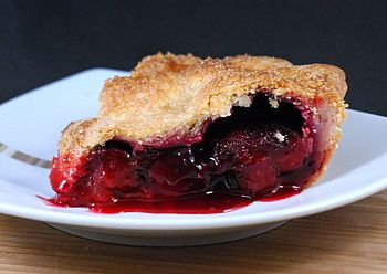 Plum pie.  I'm making this tomorrow to use up some of my dad's plums on his tree.  Looks yummy.