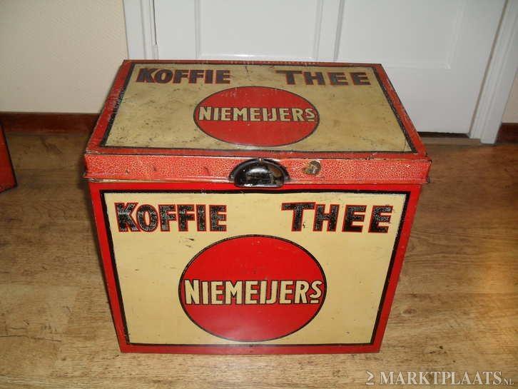 Koffie en Thee blik van Niemeijer.