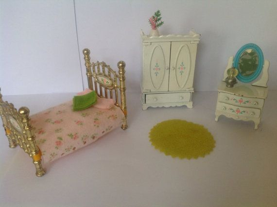 Dolls house bedroom set  Mattel the littles die by NJscollection, £15.00