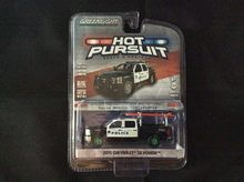 Greenlight 1:64 Hot Pursuit Series 2015 Silverado Santa Monica CA GREEN MACHINE