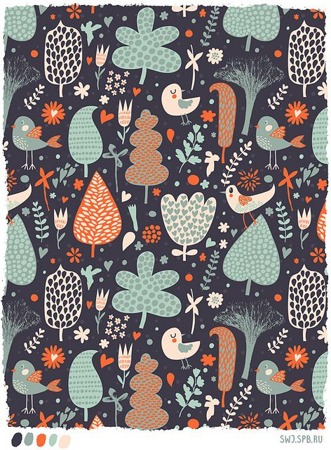 Julia Grigorieva-this is very similar to the color palette that i want for the kitchen...this would be so cute framed and hanging in the kitchen! (this is also my color palette for the kitchen/dining/living room)