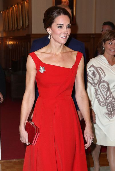 Catherine, Duchess of Cambridge attends a reception at Government House on Day 3 of a Royal Tour of Canada on September 27, 2016 in Victoria, Canada.