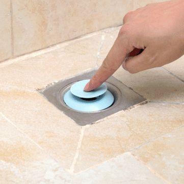 Tapón de drenaje de silicona Colector de cabello 2 en 1 Desodorante Sink Bañera Protector de drenaje de piso de cocina