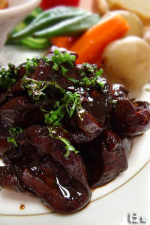 「鶏レバーのバルサミコ煮」