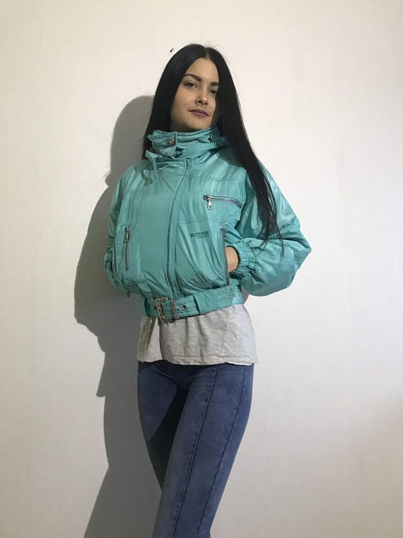 Vintage Womens Ski Suit Mint One Piece Jumpsuit Retro Snowsuit Hipster Winter Wear Small Size Winter Sport Jumpsuit Klepper 90s Ski Suit **The ski suit is split - ski trousers and jacket you can wear separately. N.B. Real color might slightly differ from picture. Label size: 36 Estimated