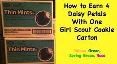 How to Earn 4 Daisy Petals With One Girl Scout Cookie Carton