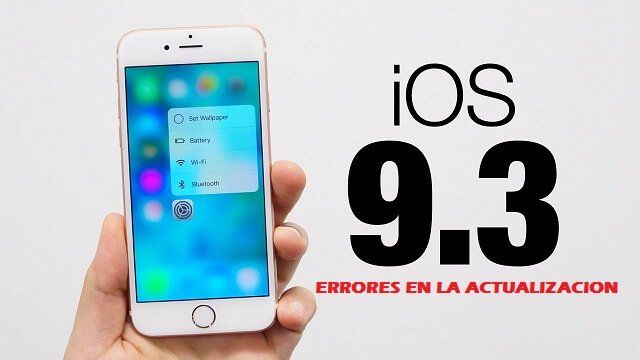 Apple se pronuncia tras errores en la actualización iOS 9.3
