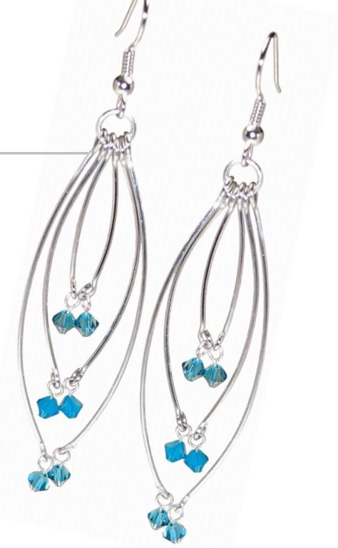 Free PDF from Brea Bead Works for these Pendulum earrings.  #Wire #Jewelry #Tutorials