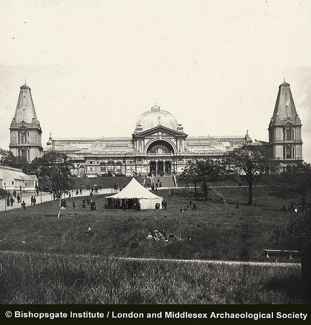 Alexandra Palace (c1910). Almost all an empty shell now