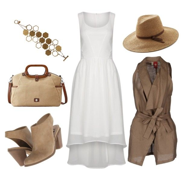 Edwardian Safari by beetlescarab on Polyvore featuring moda, Vero Moda, MICHELLE WINDHEUSER, G by Guess, Relic and whitedress