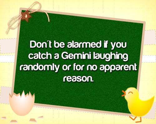 Gemini Characteristics - LOL *hides*