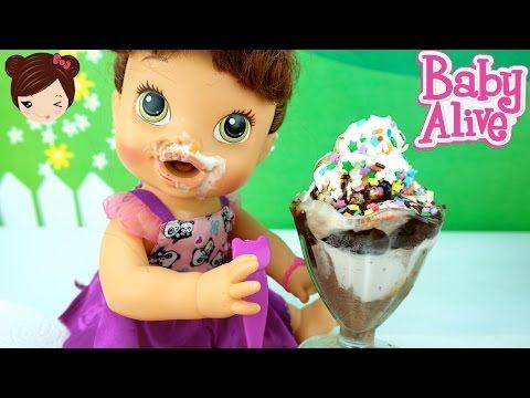 Muñeca Bebe Alive Juega a Pastelazos Cara Splash con Bebe Elsa y Ana Frozen - Pie Face - YouTube