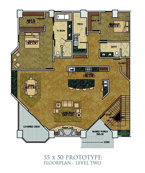 Hangar Size 55 X 50 Floor Plans Covered Decks Hangar