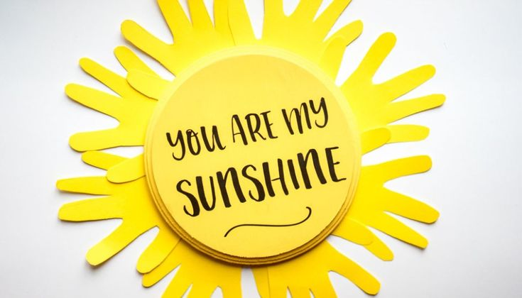 You Are My Sunshine Craft - Sun Handprint